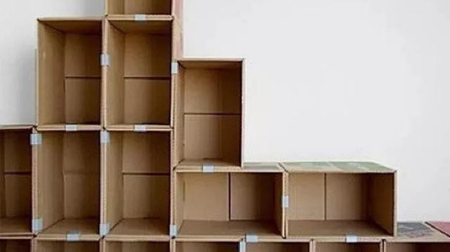 废物利用手工制作-用纸箱.